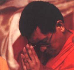 Lama Zopa Rinpoche at cermonies for Lama Yeshe.