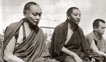 With Geshe Tekchok, Manjushri Institute. 1979