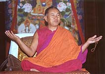 Lama Yeshe teaching at Tushita Mahayana Meditation Centre