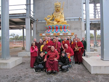 Rinpoche at the Great Stupa with Friends