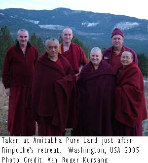 Photo Credit: Ven Roger Kunsang at Amithabha Pure Land Washington USA Feb. 2005