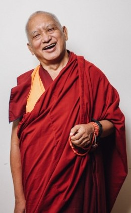 Portrait of Lama Zopa Rinpoche, New York, USA, August 2015. Photo by Edward Sczudlo.