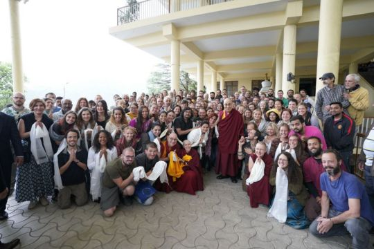 tushita-meditation-centre-students-from-courses-insight-into-emptiness-april-12-20-2018-and-introduction-to-buddhism-april-11-20-2018-with-his-holiness-the-dalai-lama
