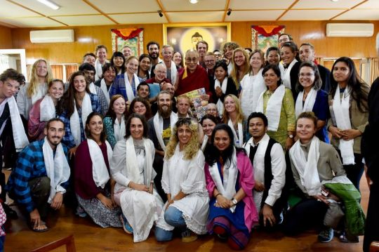 tushita-meditation-centre-students-from-introduction-to-buddhism-march-26-to-april-4-2018-with-his-holiness-the-dalai-lama-by-office-of-his-holiness-the-dalai-lama
